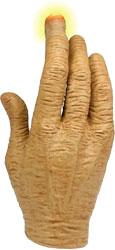 Инопланетянин - Рука с посдсветкой